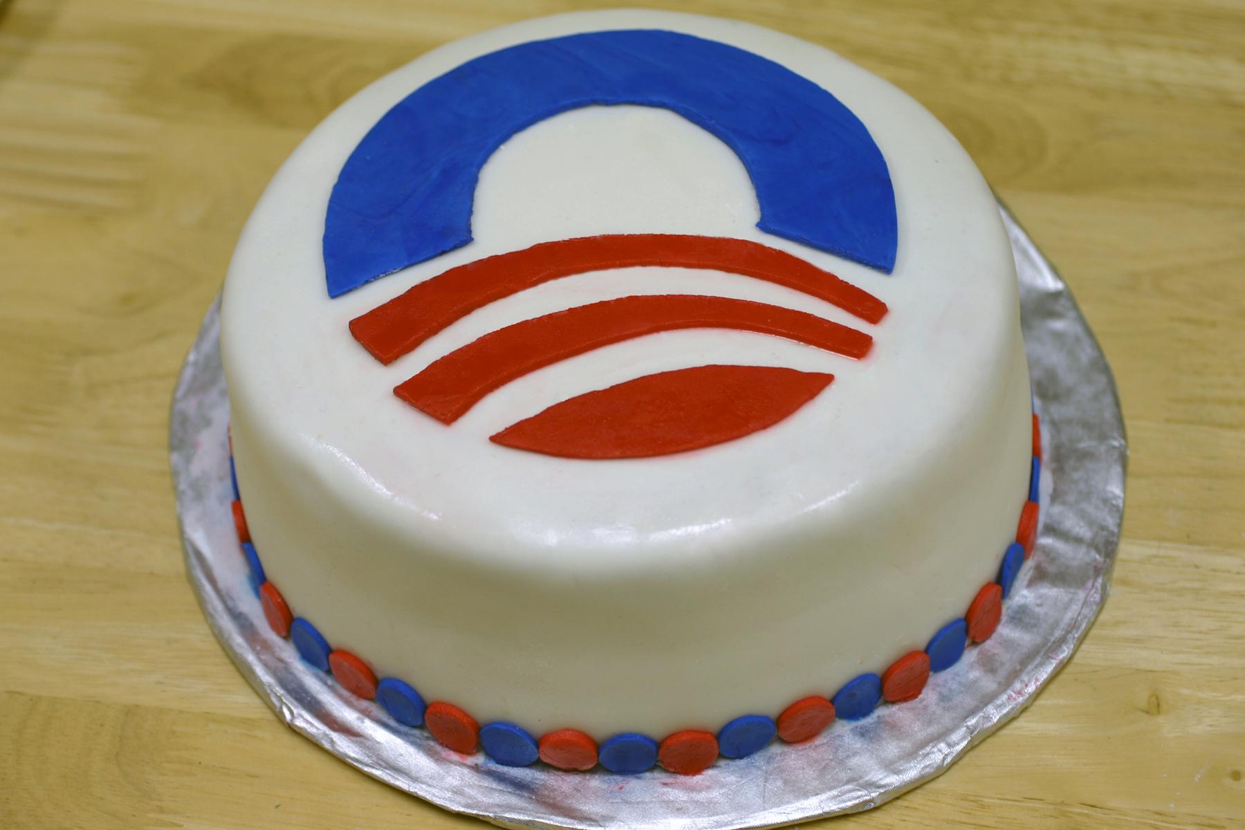 Groovy Obama Everything Else Is Cake Funny Birthday Cards Online Inifodamsfinfo