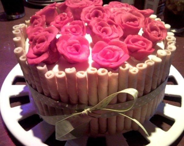 Fantastic Rose Cake Everything Else Is Cake Birthday Cards Printable Nowaargucafe Filternl