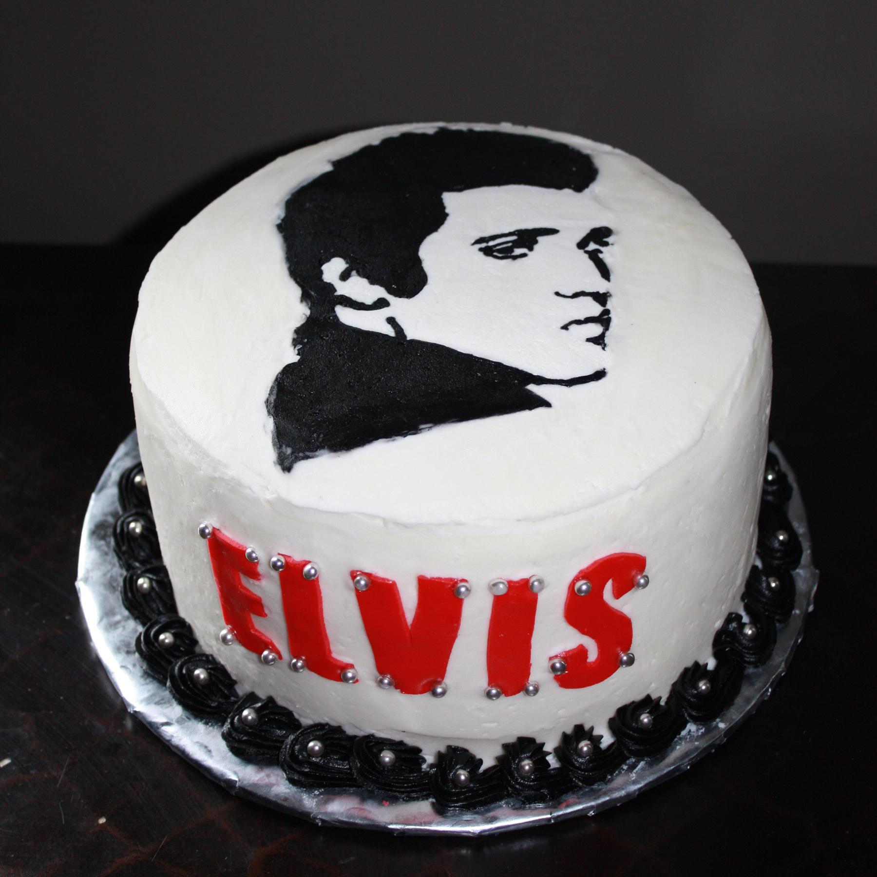 Prime Elvis Cake Everything Else Is Cake Birthday Cards Printable Opercafe Filternl
