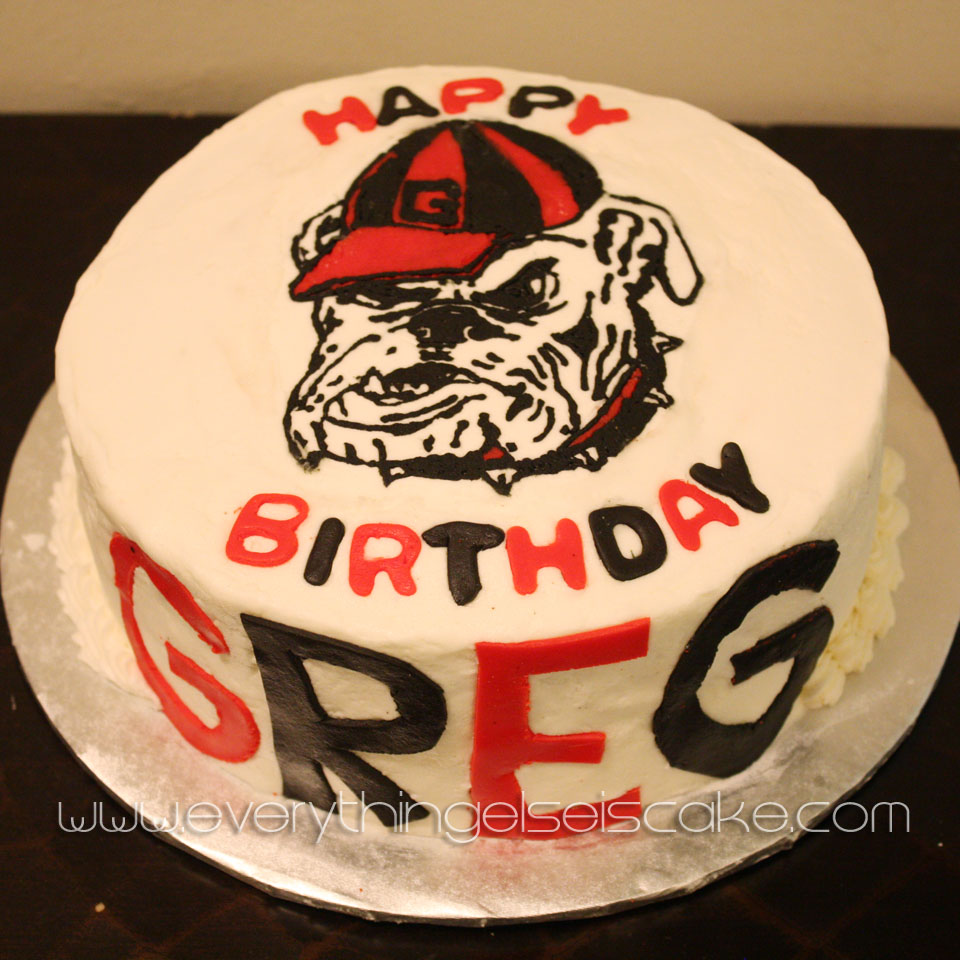 Tremendous Ga Bulldog Cake Everything Else Is Cake Funny Birthday Cards Online Elaedamsfinfo