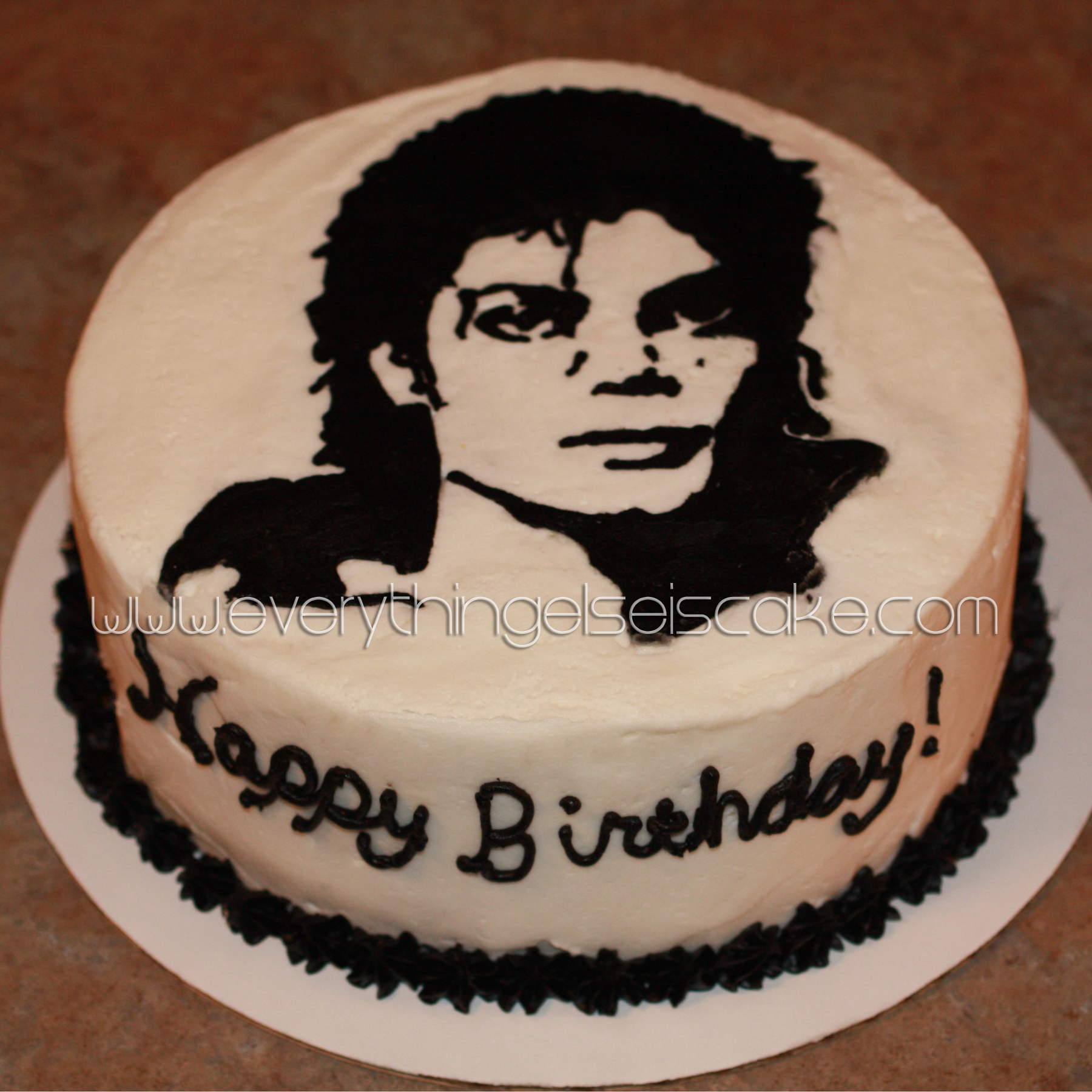 Awesome Michael Jackson Cake Everything Else Is Cake Funny Birthday Cards Online Alyptdamsfinfo