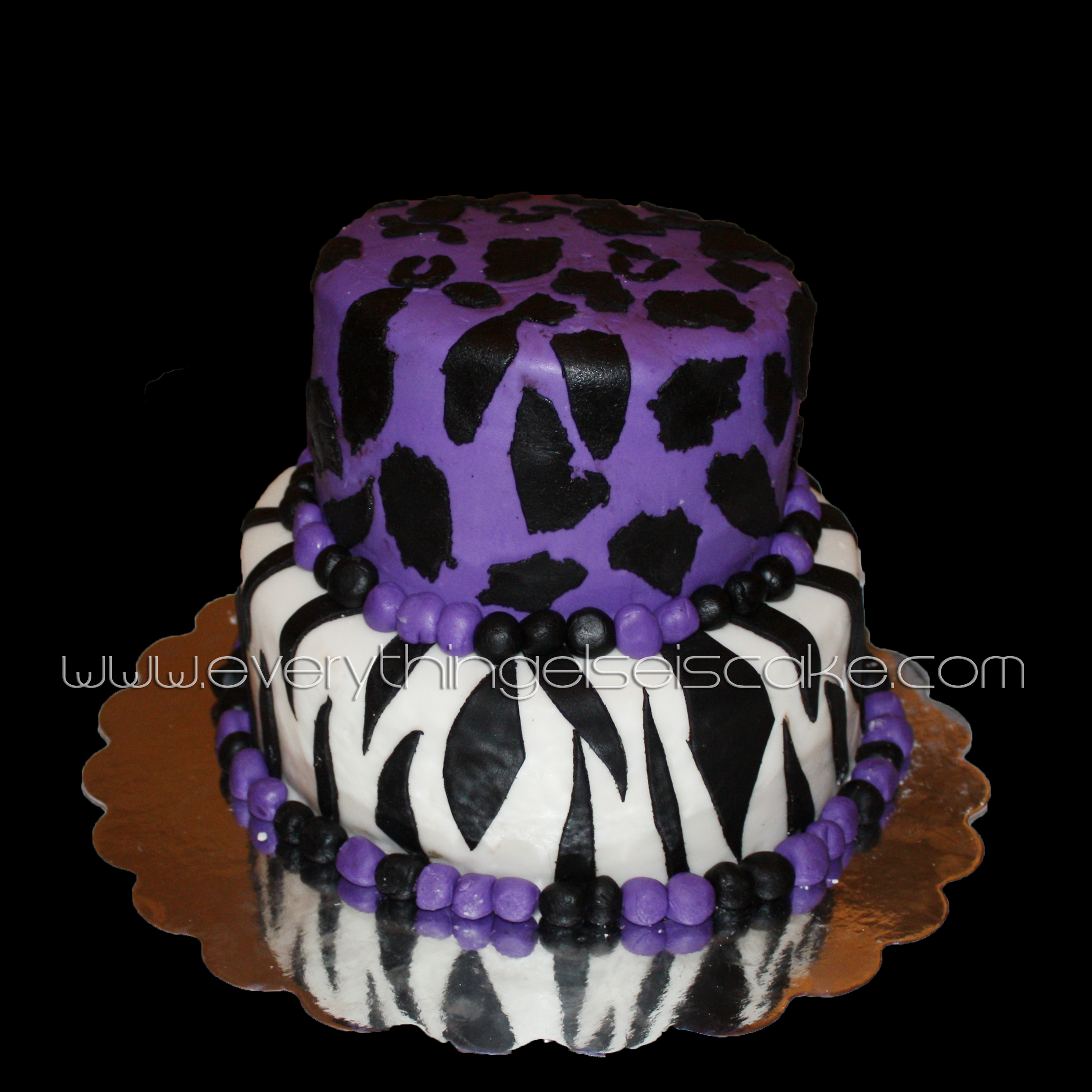 Marvelous Purple Animal Print Cake Everything Else Is Cake Funny Birthday Cards Online Elaedamsfinfo