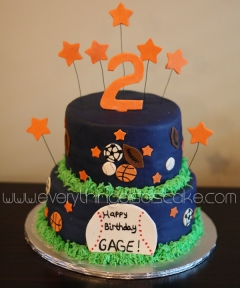 All Star Sports Cake Everything Else Is Cake - All star birthday cake