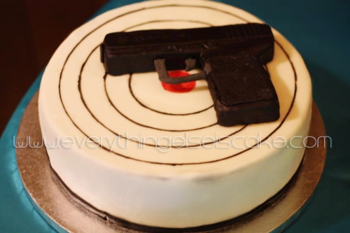 Glock Gun Cake